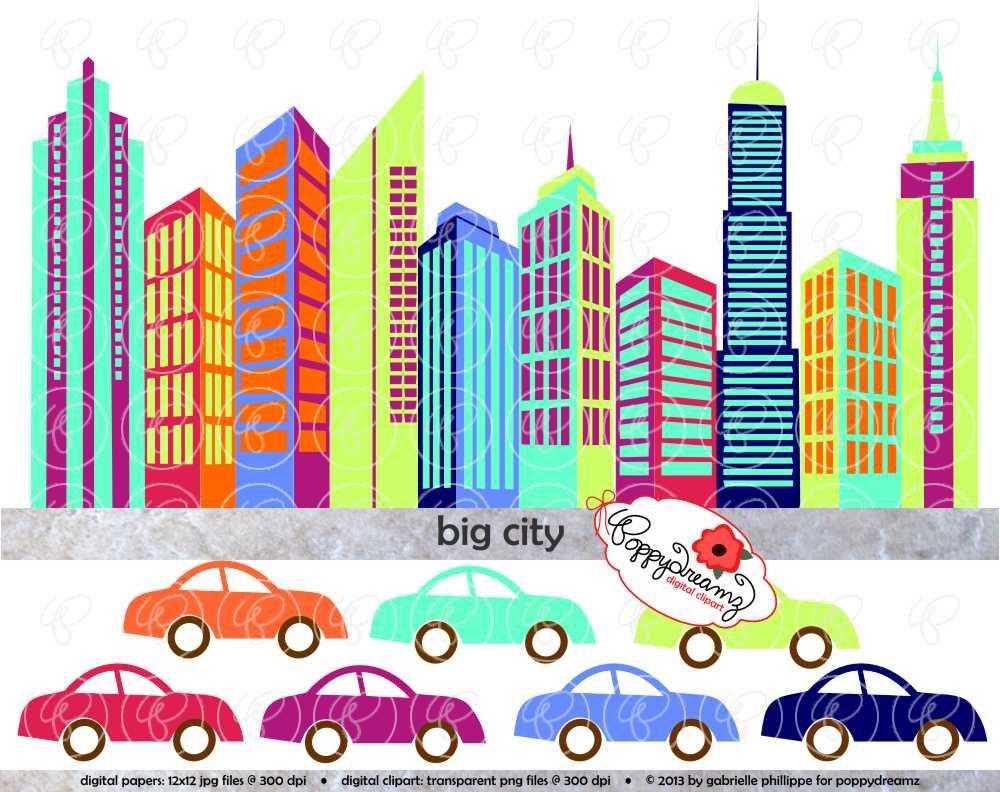 1000x792 City Clipart Line Art