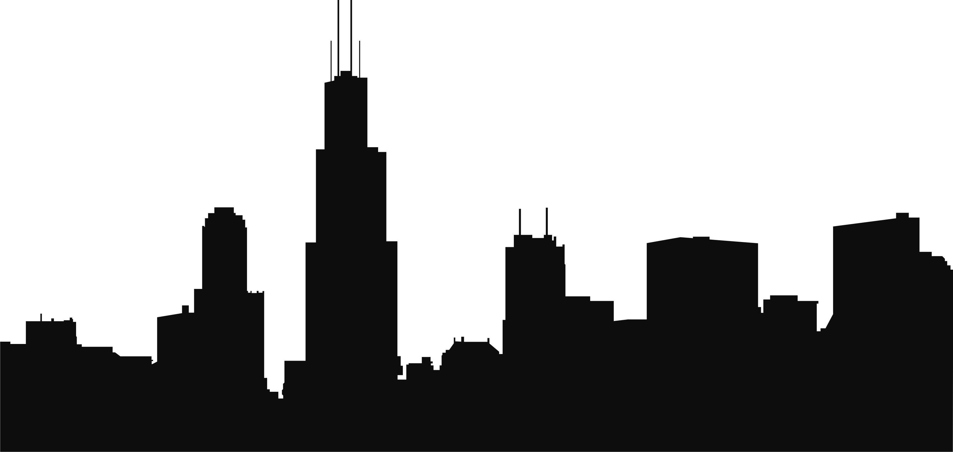 3307x1569 High Building City Skyline Clipart