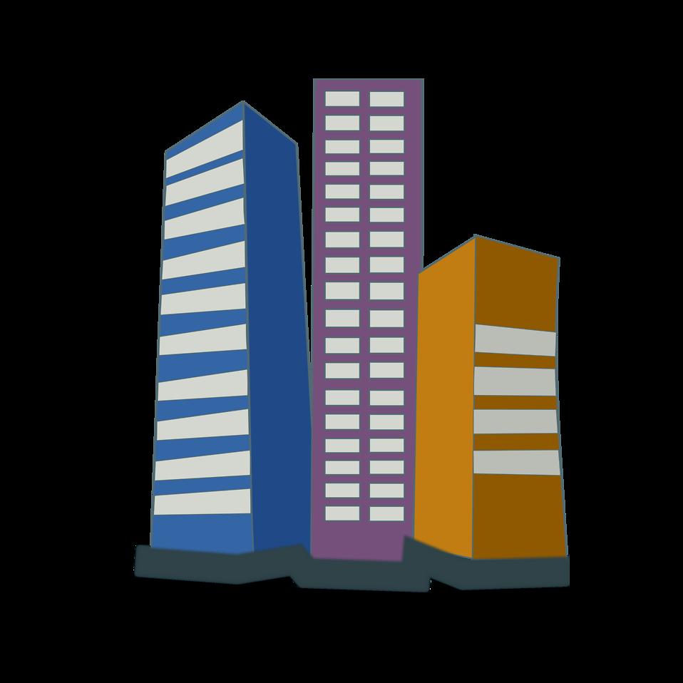 958x958 Office Clipart City Building