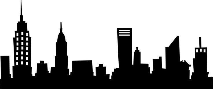 736x309 Building Clipart Black City