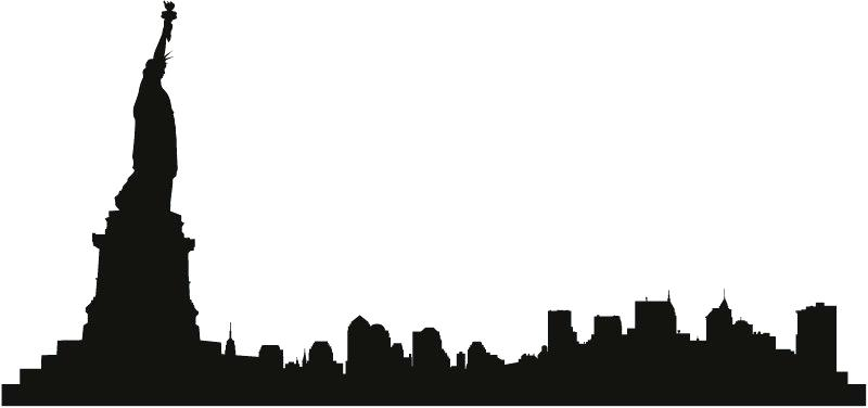 800x376 City Skyline Clipart Clip Art City Skyline Vector Silhouette