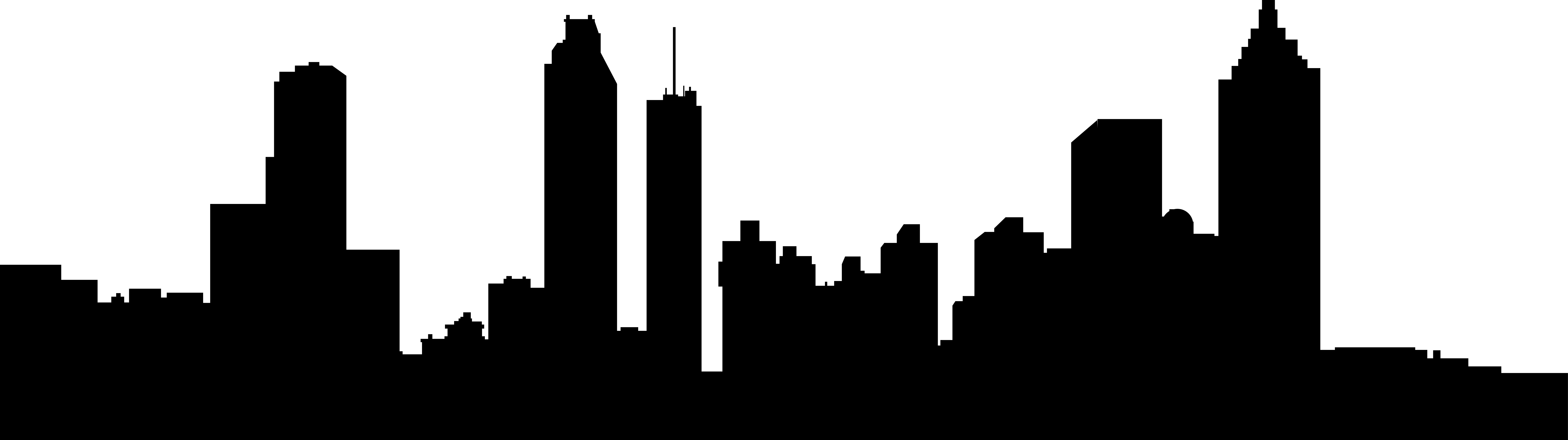 8059x2261 City Clipart Atlanta Skyline