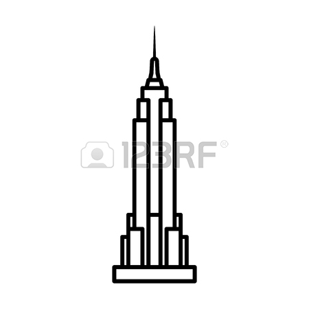 450x450 Empire State Building In New York City Line Art Icon For Apps