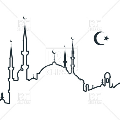 400x400 Silhouette Of Arabic City With Mosque