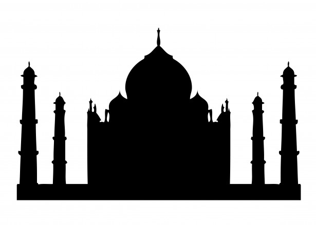 615x438 Taj Mahal Silhouette Clipart Free Stock Photo