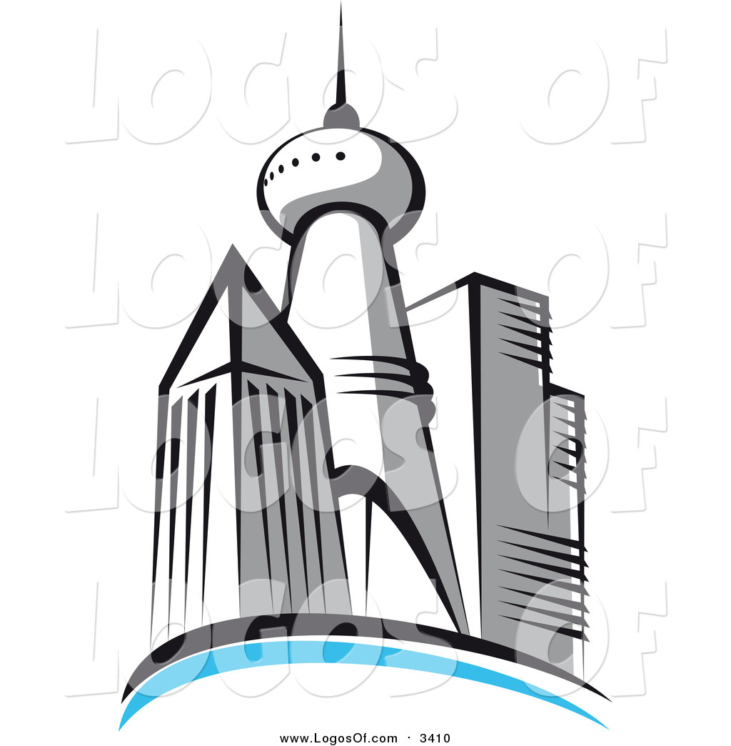 1024x1044 Vector Clipart Of A Skyscraper City Skyline Logo By Vector