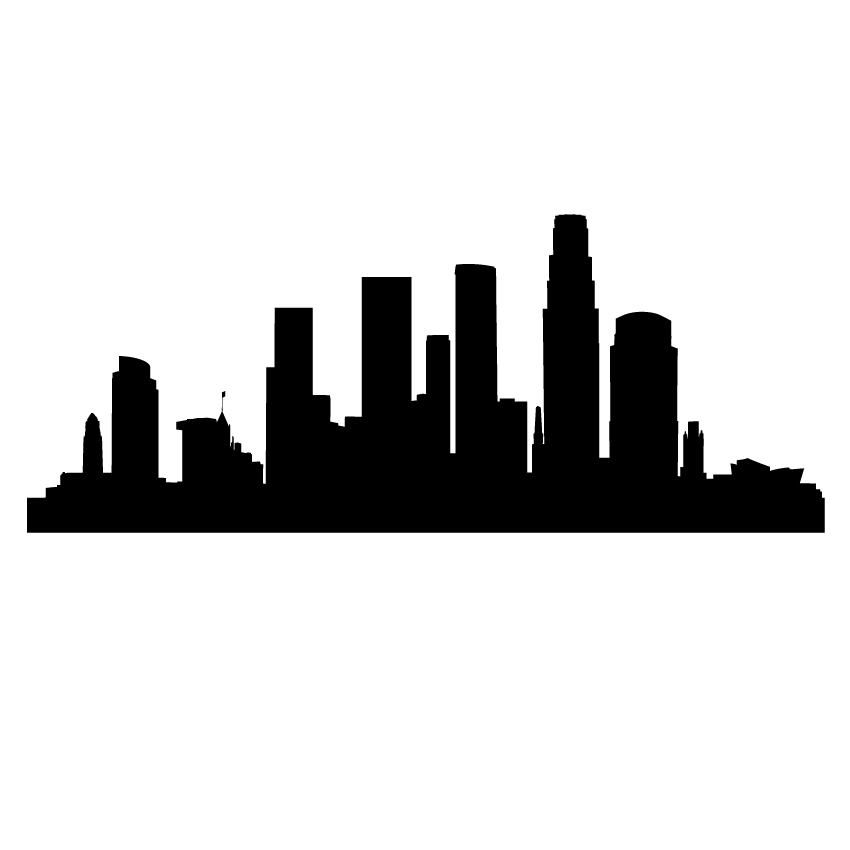 850x850 Los Angeles Clipart Los Angeles Skyline Clipart