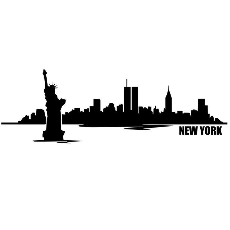 736x736 New York City Skyline Silhouette Painting Idea Cakes New York