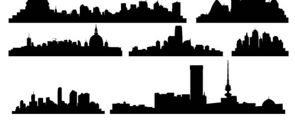 978x420 Cityscape Clipart Vector Free Download