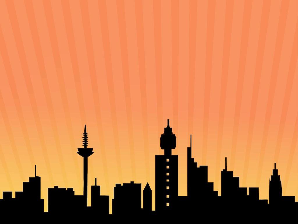 1024x768 Frankfurt Skyline