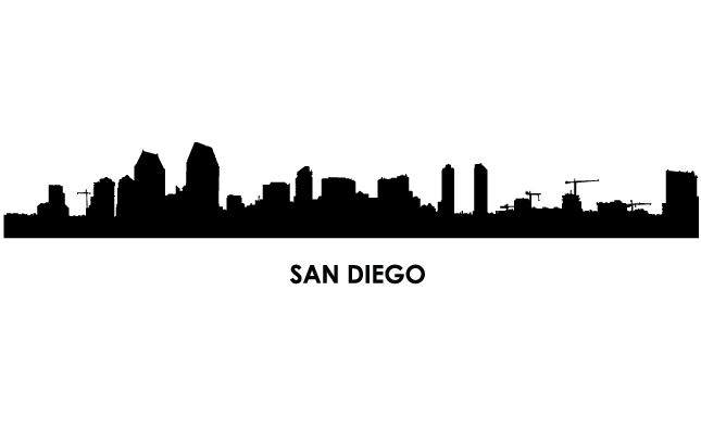 645x395 Miami Clipart San Diego Skyline