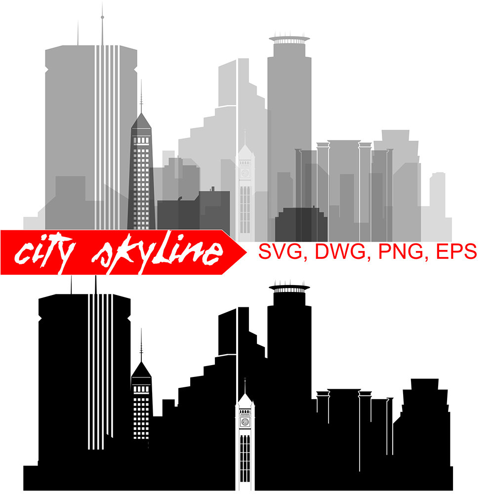 1000x1010 Minneapolis SVG Minneapolis city Vector Skyline Minneapolis