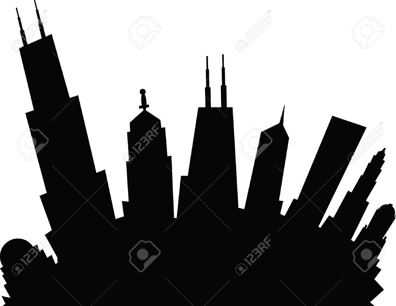 1300x1005 Chicago Skyline Clip Art