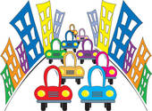 170x125 Clipart Of Busy Street K9251224
