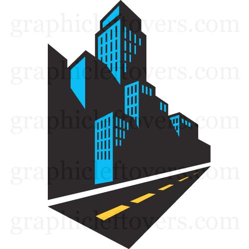 500x500 Skyline Clipart City Street