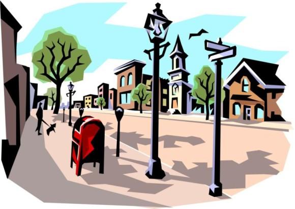 580x411 Street Clipart Town Street