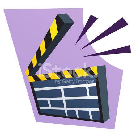 440x440 Clapboard Clip Art Stock Vector