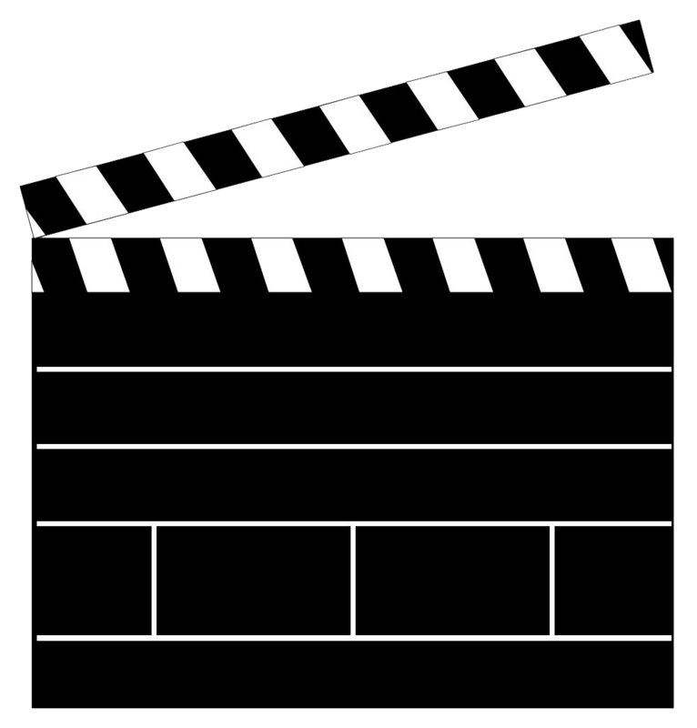 766x800 Clapper Board Clip Art