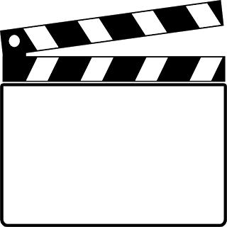 320x320 Clapperboard Clipart