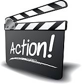 165x170 Clipart Of Lights Camera Action K4790952