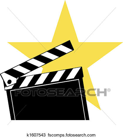 419x470 Clipart Of Clapboard K1607543