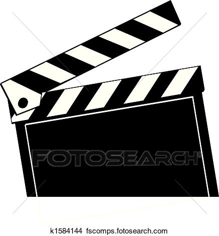 437x470 Clipart Of Movie Clapboard K1584144