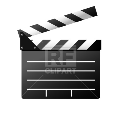 400x400 Film Slate Royalty Free Vector Clip Art Image