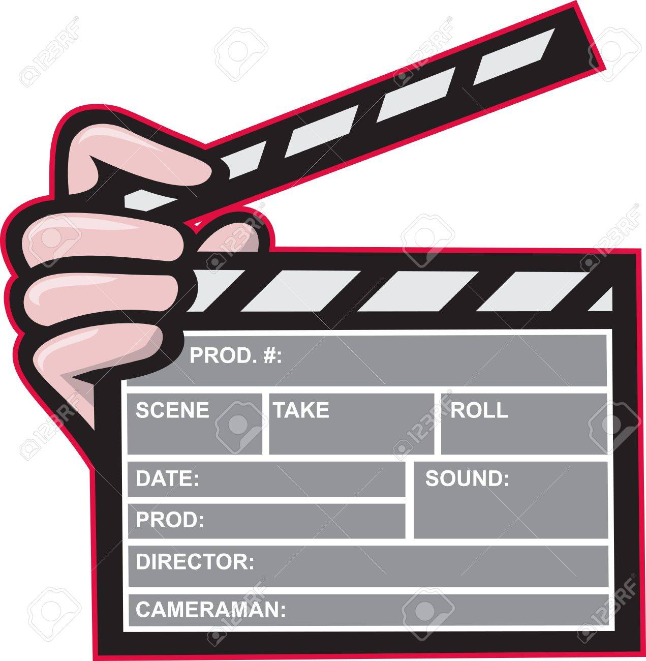 1271x1300 Illustration Of A Clapboard Clapper Clapperboard Front View