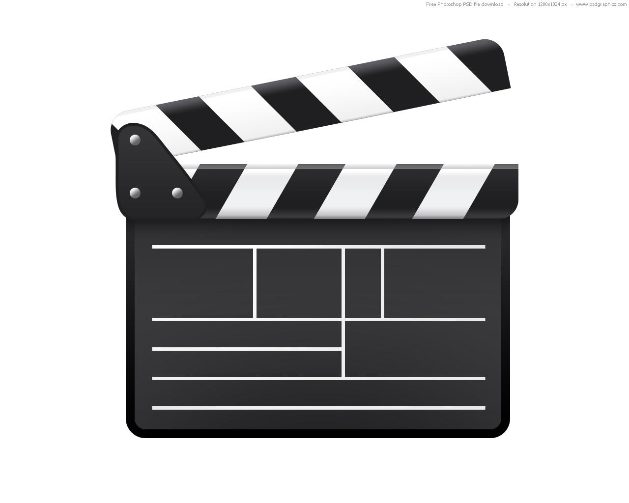 1280x1024 Movie Clapboard Clipart