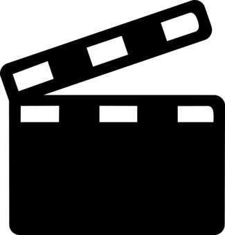 325x340 Movie Clapper Clip Art