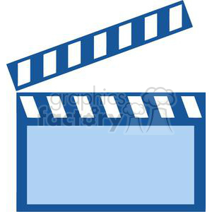 300x300 Royalty Free Movie Clapboard 380460 Vector Clip Art Image
