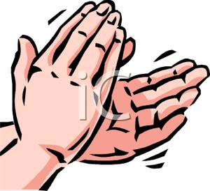 300x274 Clapping Hands Clip Art