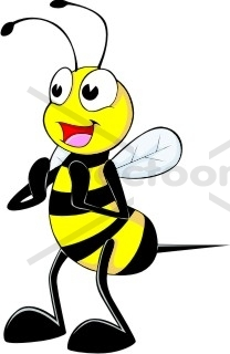 208x320 Happy Bee Clapping