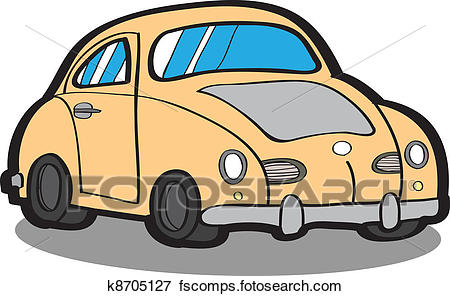 450x296 Clip Art Of Cartoon Car Vector K8705127