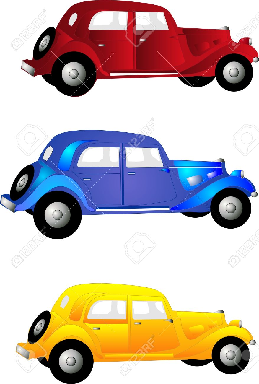 877x1300 Vintage Car Automobile Clipart
