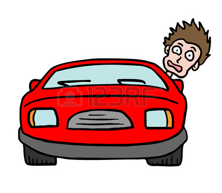 450x391 Boy Cartoon In The Red Car Royalty Free Cliparts, Vectors,