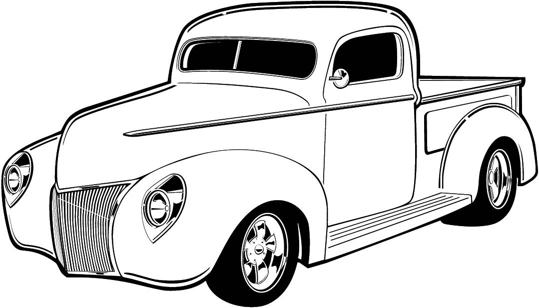 1079x617 Classic Truck Cliparts