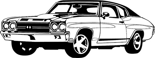 500x187 Free Car Clipart Black And White Image
