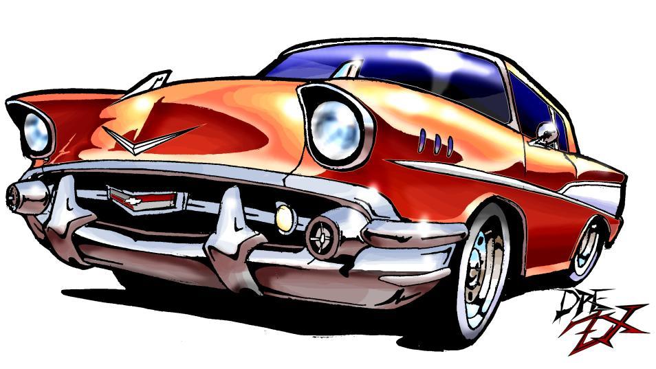 954x537 Car Clipart 57 Chevy