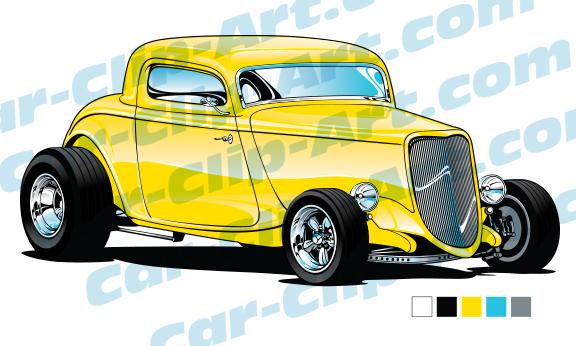 576x346 1933 Ford Hot Rod Vector Clip Art Car Clip