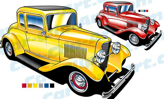 576x346 Deuce Coupe Hot Rod Clip Art Car Clip