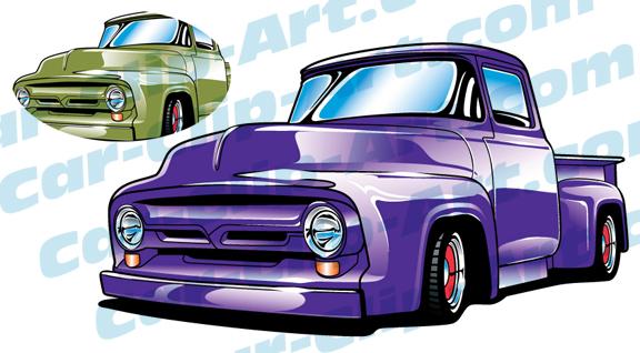 576x318 1956 Ford Truck Vector Clip Art Car Clip