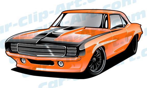 576x346 69 Camaro Pro Touring Vector Clip Art Car Clip