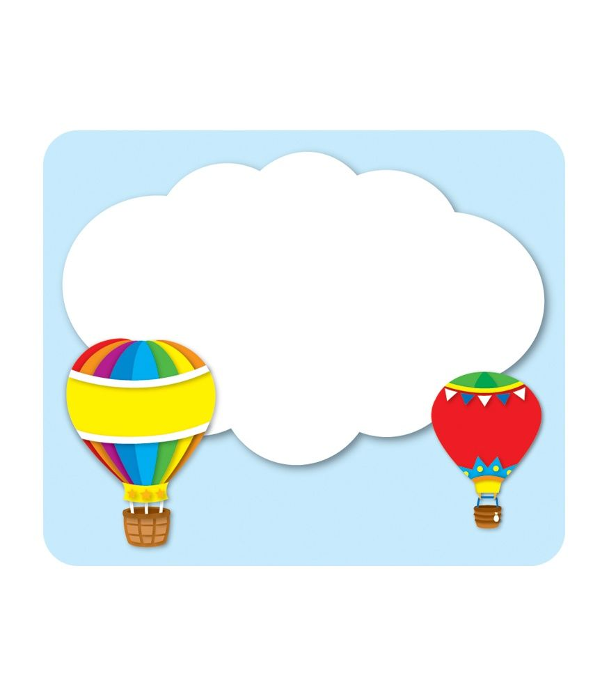 875x1000 Hot Air Balloons Name Tags Etiquetas E Labels Hot