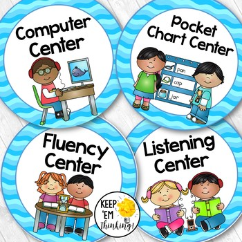 350x350 Ocean Theme Center Signs Editable! Ocean Theme Classroom Decor Tpt