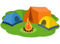210x153 Free Camping Clipart