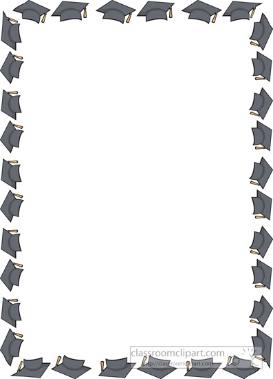 397x550 Graduation Border Clip Art