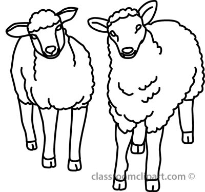 400x374 Black And White Sheep Clipart