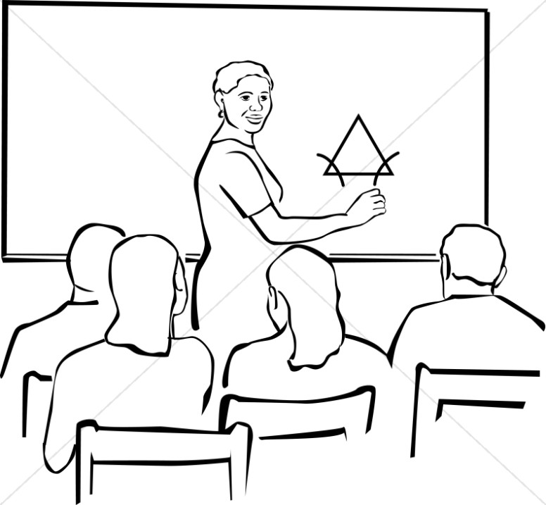 776x717 Teacher Clipart In Black And White Christian Classroom Clipart