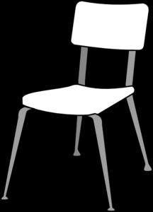 216x300 White Classroom Chair Clip Art